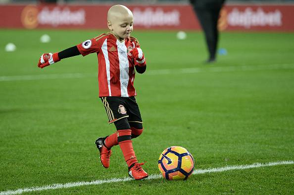 Bradley Lowery     (Photo credit should read OLI SCARFF/AFP/Getty Images)