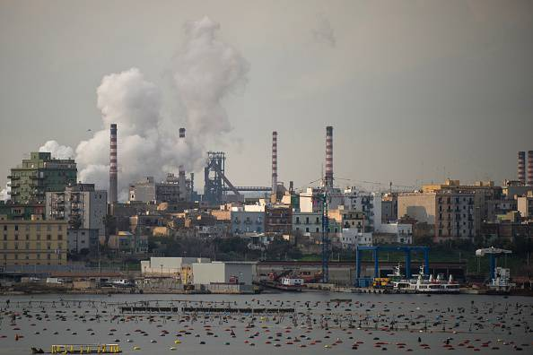 Ilva di Taranto (ALFONSO DI VINCENZO/AFP/Getty Images)