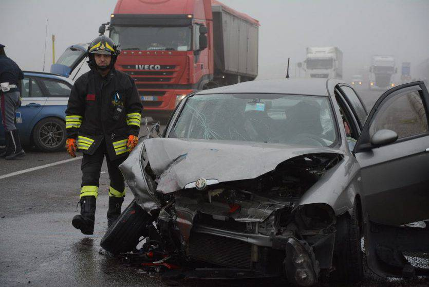 Una delle due auto coinvolte (Websource)