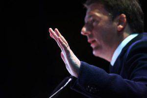 Matteo Renzi, Italy's prime minister, speaks at the 'Yes' campaign's final rally ahead of the referendum on constitutional reform in Florence, Italy, on Friday, Dec. 2, 2016. On Dec. 4, Italians will vote on constitutional changes proposed by Renzi to limit the power of the Senate, the upper house of parliament. Photographer: Chris Ratcliffe/Bloomberg via Getty Images
