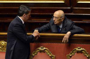 Renzi e Napolitano (ANDREAS SOLARO/AFP/Getty Images)