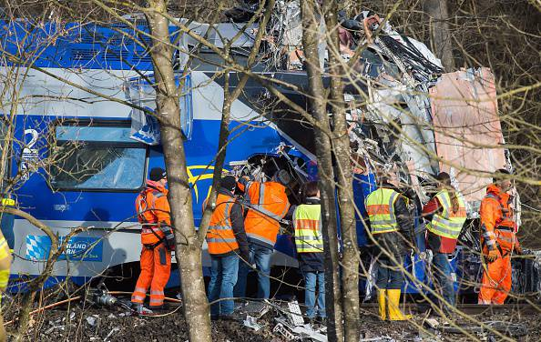Scontro tra treni (PETER KNEFFEL/AFP/Getty Images)