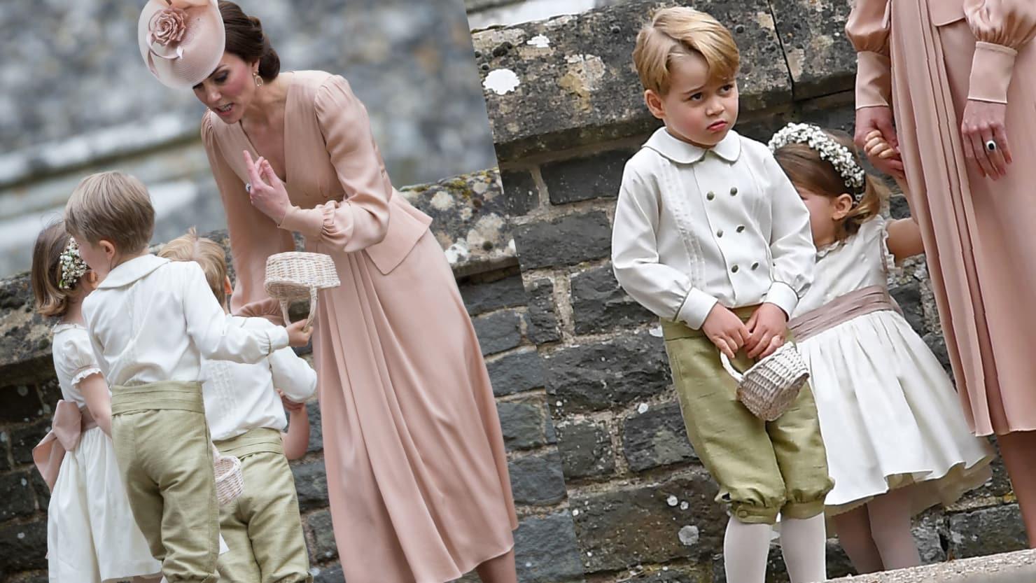 """La """"strigliata"""" di Kate al piccolo George: ecco cos'ha fatto al matrimonio della zia – VIDEO"""