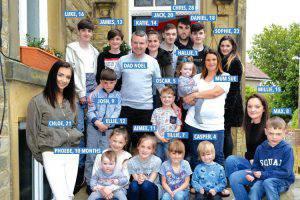 la famiglia più numerosa del Regno Unito
