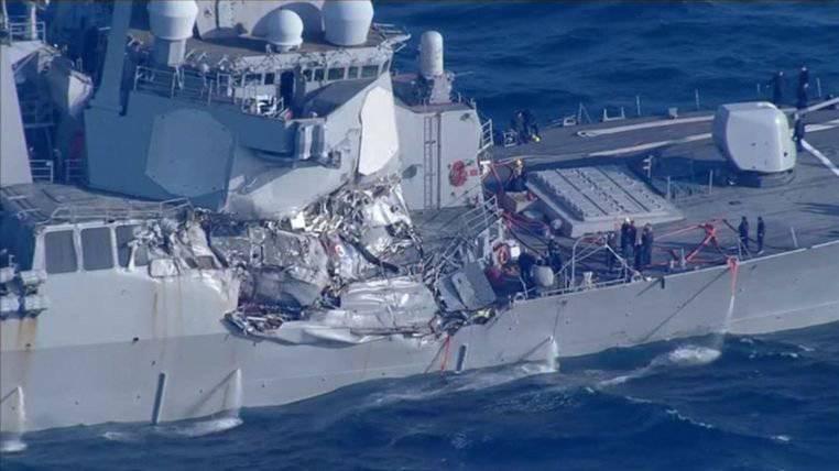 Nave mercantile urta un cacciatorpediniere USA, 7 dispersi