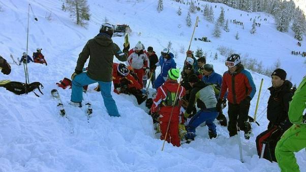 Valanga sulle Dolomiti: salvati due escursionisti italiani