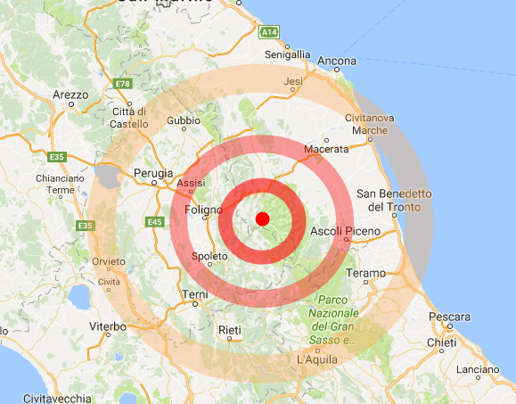 Terremoto! Colpita Macerata da una scossa di intensità 3.2