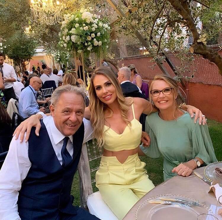 Ilary Blasi al matrimonio della sorella