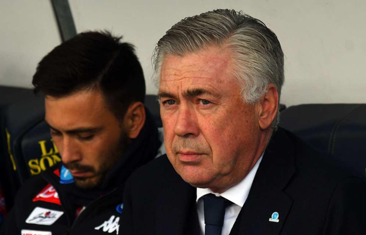 panchina Napoli Ancelotti