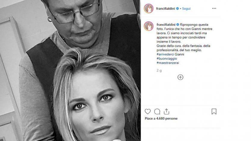 Francesca Fialdini ricorda Gianni (Instagram)