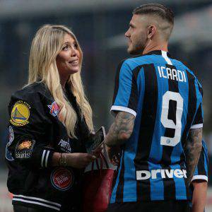 Wanda Nara e Mauro Icardi, attaccante Inter