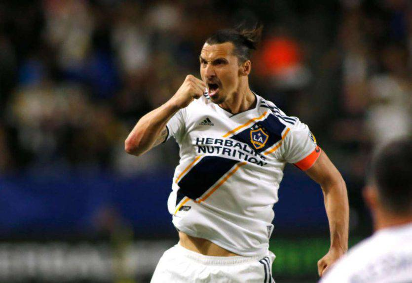 Zlatan Ibrahimovic, attaccante dei Los Angeles Galaxy
