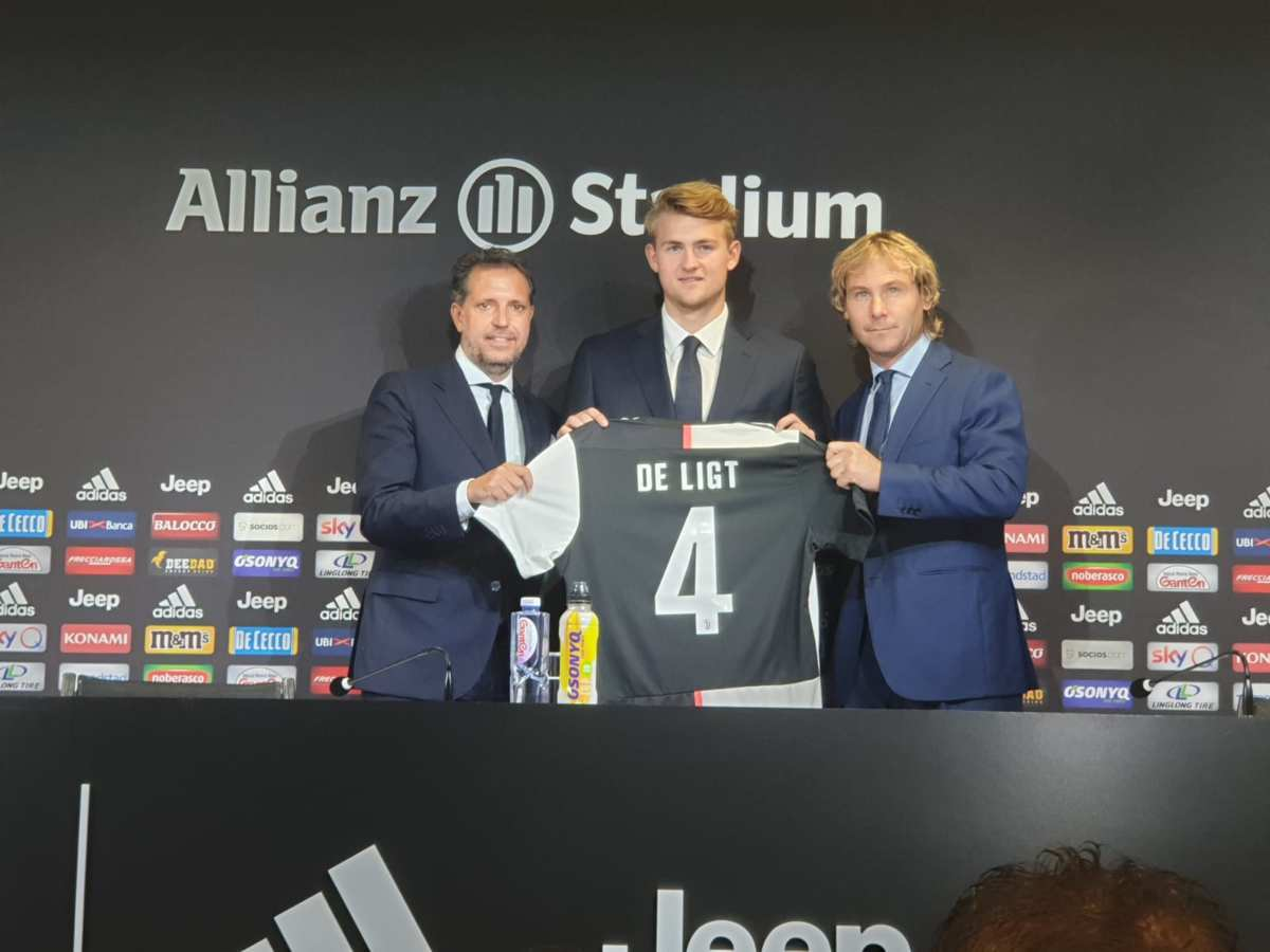 conferenza de Ligt alla Juventus