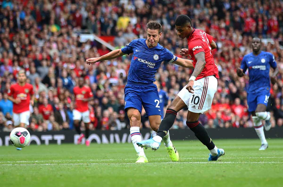Marcus Rashford in Manchester United-Chelsea 4-0