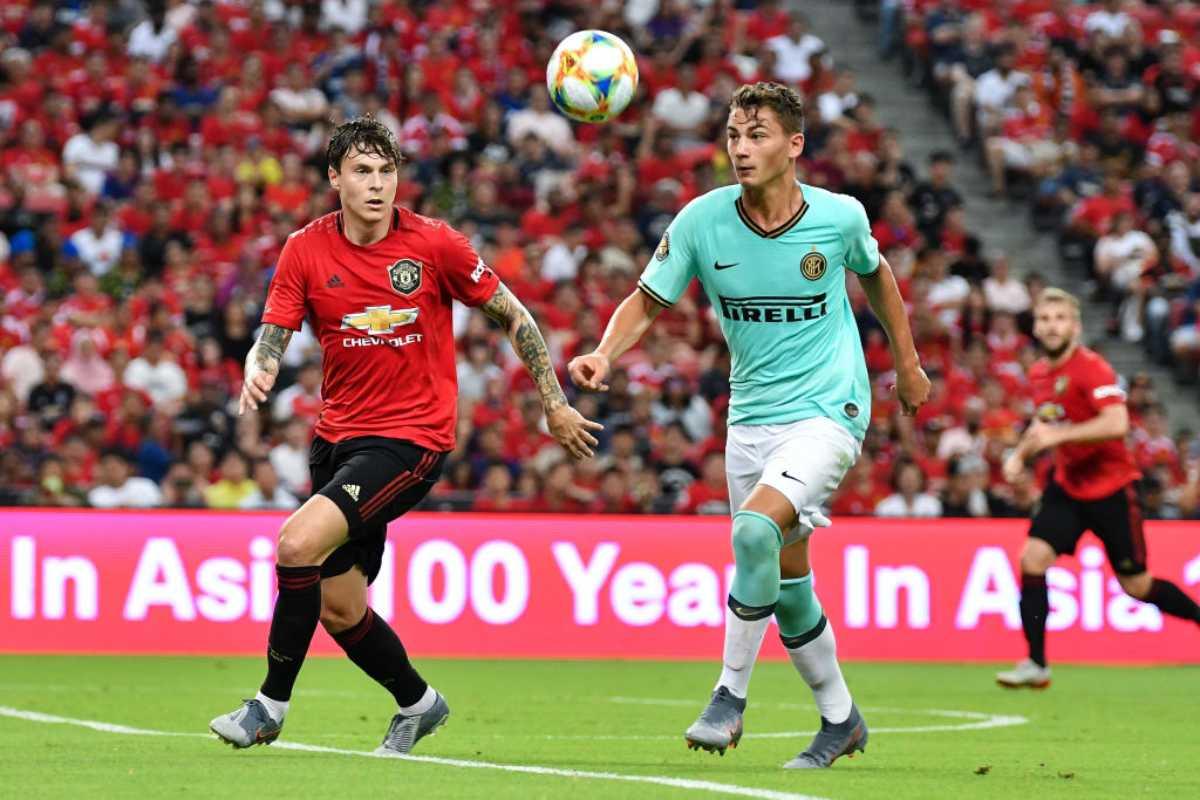 Sebastiano Esposito in Manchester United-Inter