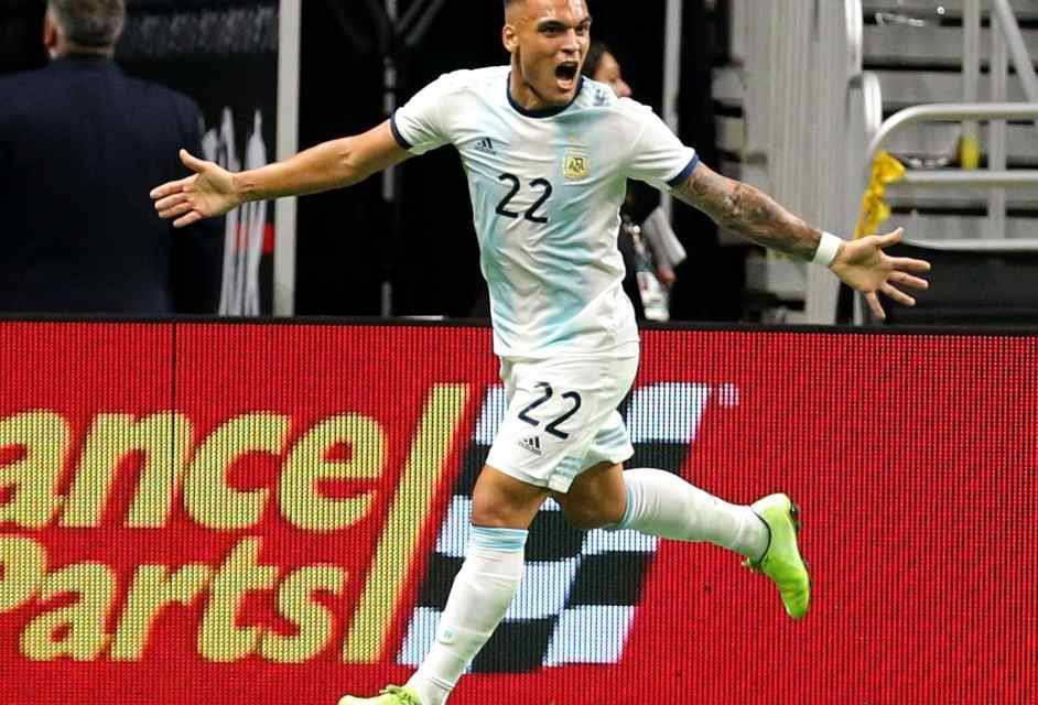 Inter, guarda che Lautaro! Tripletta in un tempo conl'Argentina