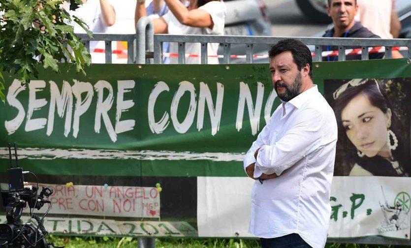 Intervento di Salvini a Roma
