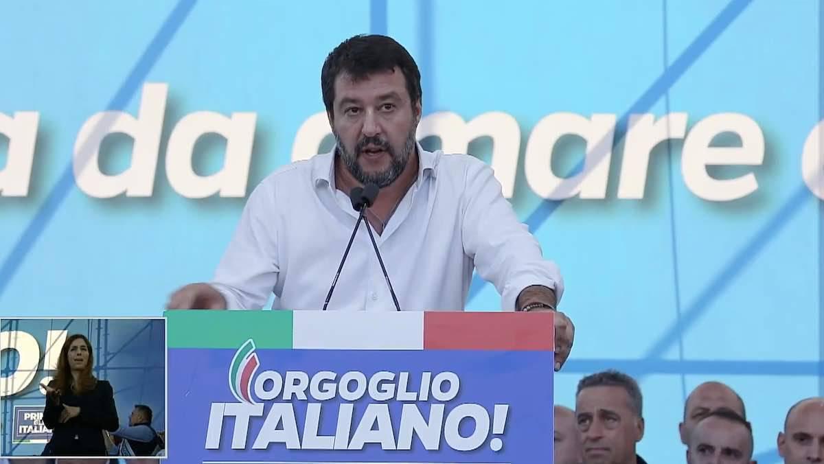 Manifestazione Roma Matteo Salvini Live