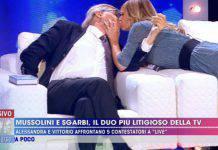 Vittorio Sgarbi bacio Alessandra Mussolini