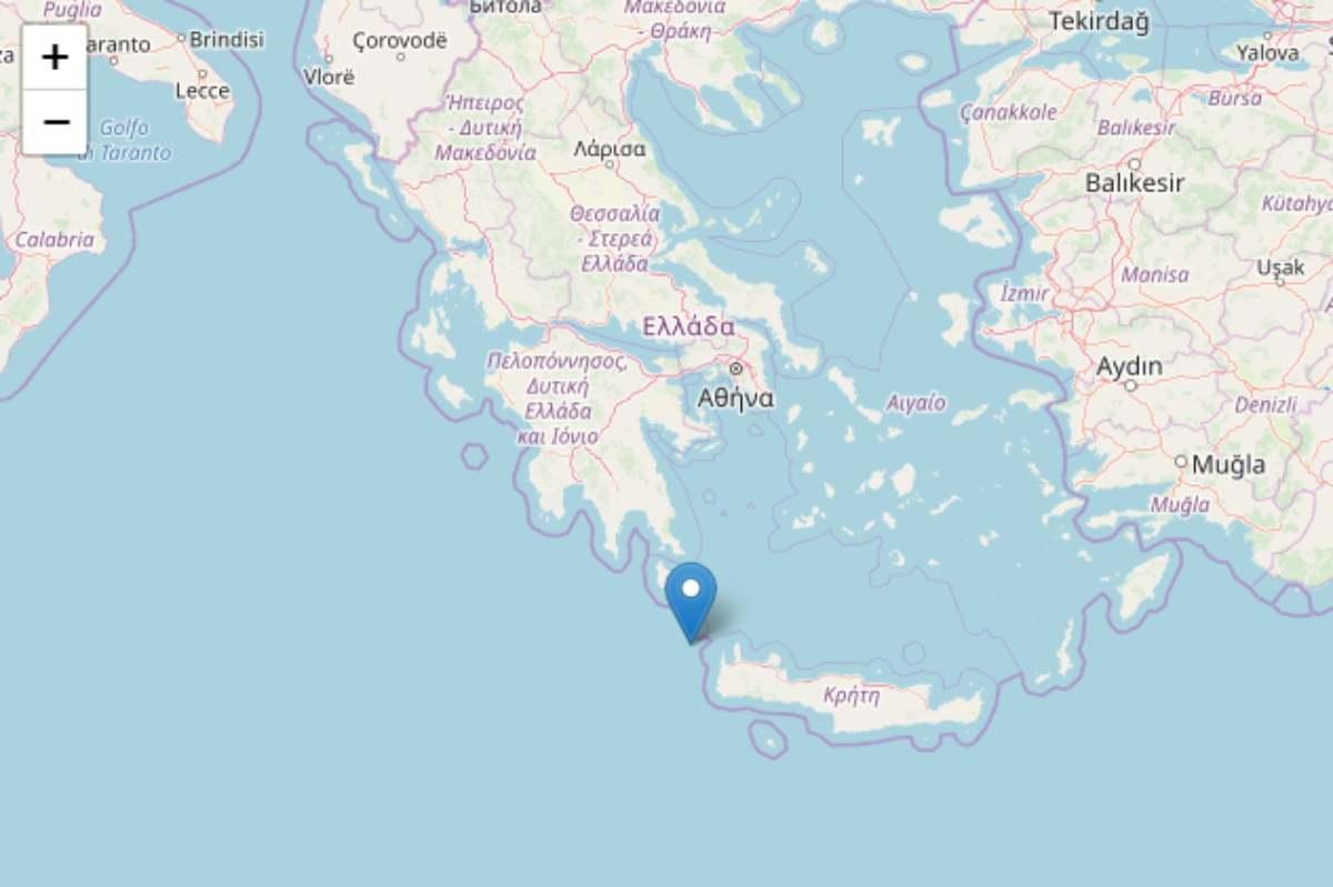 Forte scossa di terremoto al largo Creta
