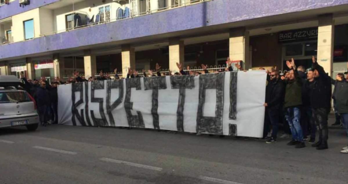 Tifosi Napoli contestazione