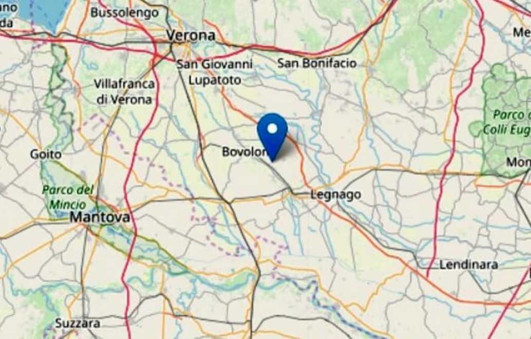 Terremoto, tre scosse Veronese magnitudo