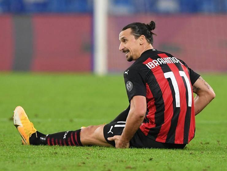 Zlatan Ibrahimovic con la maglia del Milan (Getty Images)