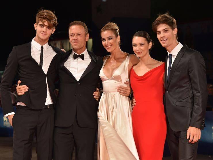 Rocco Siffredi e la sua famiglia (Getty Images)