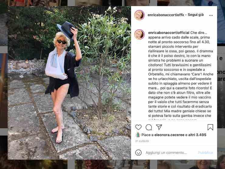 Enrica Bonaccorti (Instagram)
