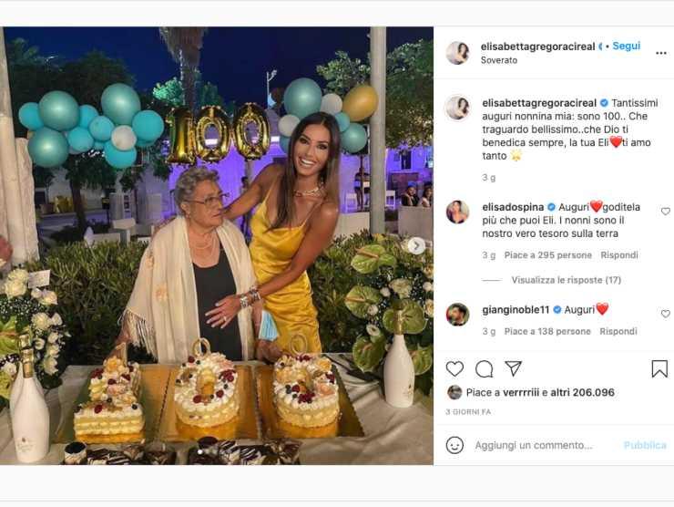 Schermata profilo Instagram Elisabetta Gregoraci (Instagram)