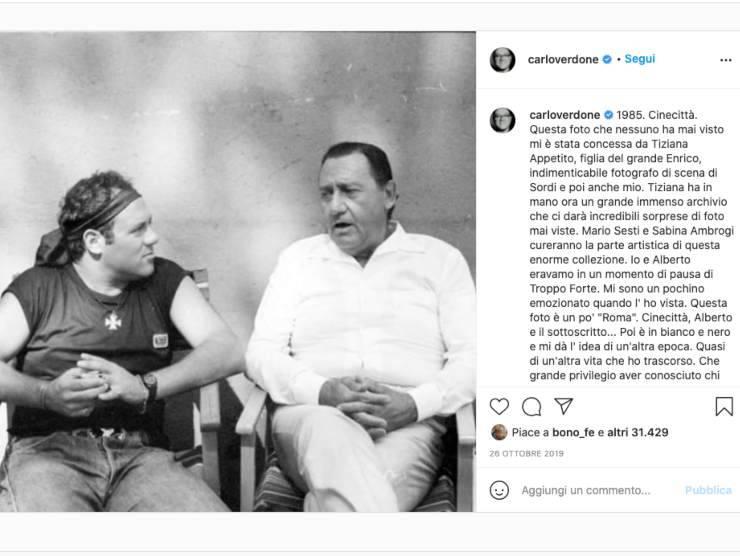 Schermata profilo Instagram di Carlo Verdone (Instagram)