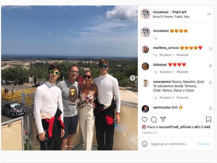 Rocco Siffredi e famiglia (Instagram)