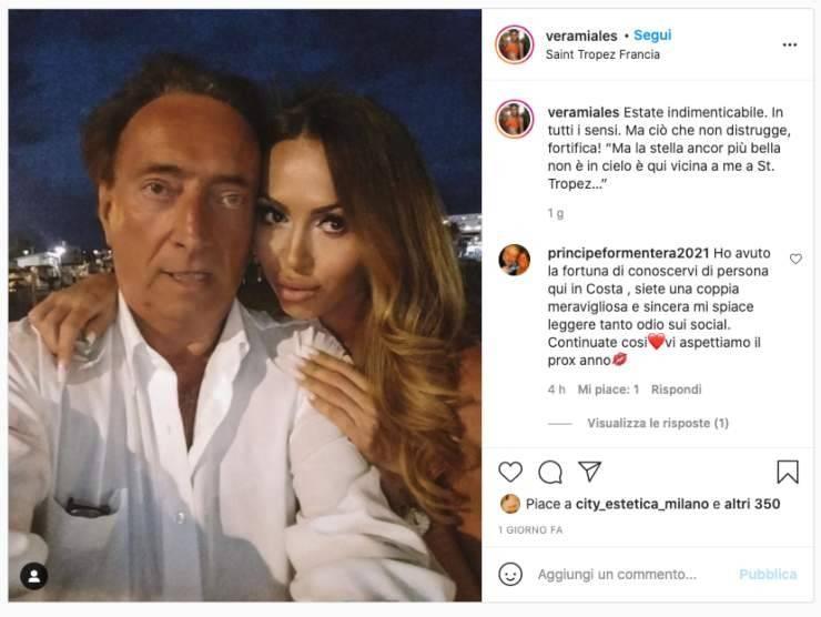 Amedeo Goria e Vera Miales (instagram)