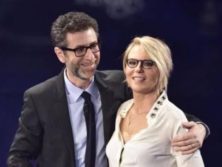 Maria De Filippi e Fabio Fazio (web source)
