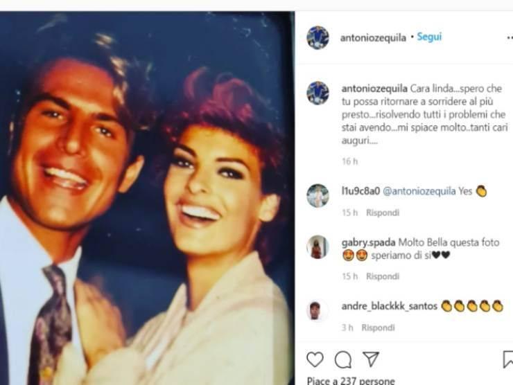 Antonio Zequila e Linda Evangelista (Instagram)