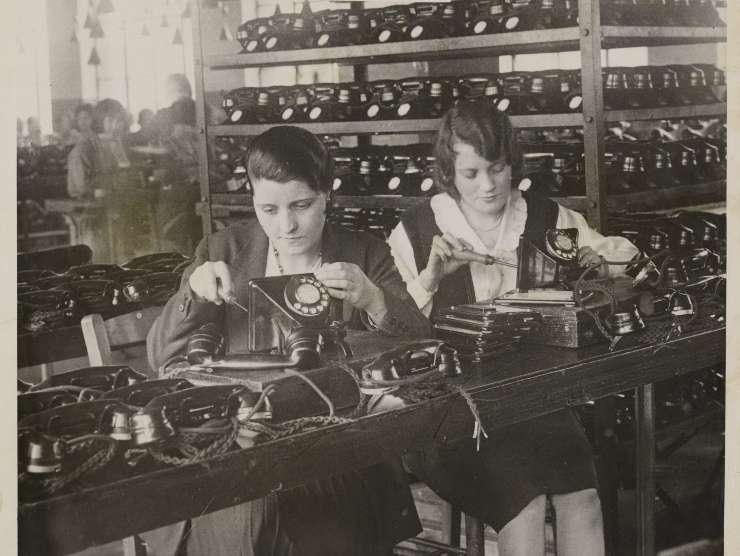 Produzione di telefoni d'epoca (Getty Images)