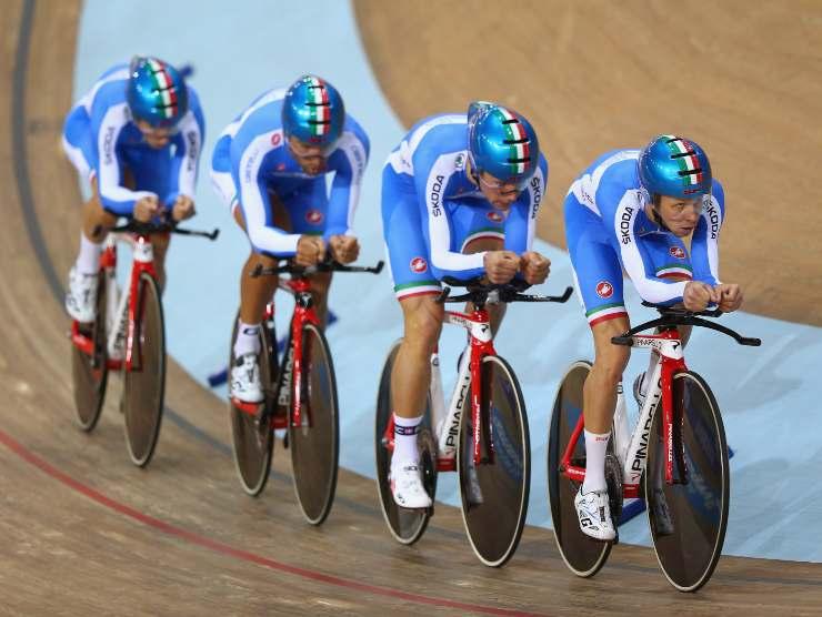 Ignazio Moser e la sua squadra al campionato europeo (Getty Images)
