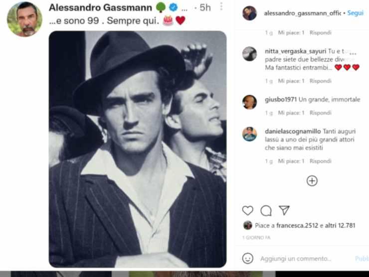 Il post di Instagram