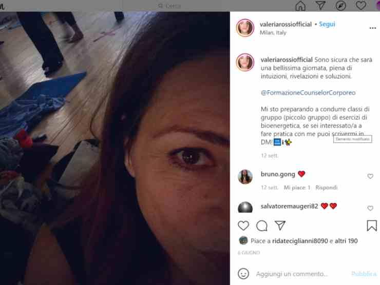 Il post di Valeria