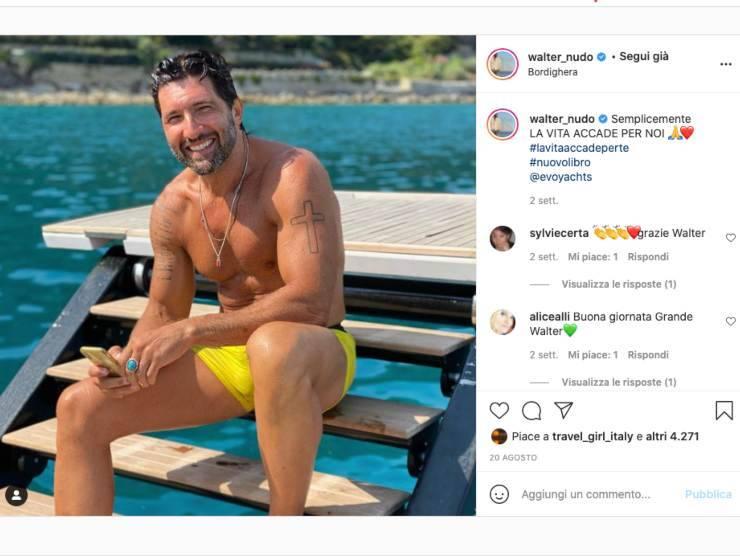 Schermata profilo Instagram di Walter Nudo (Instagram)