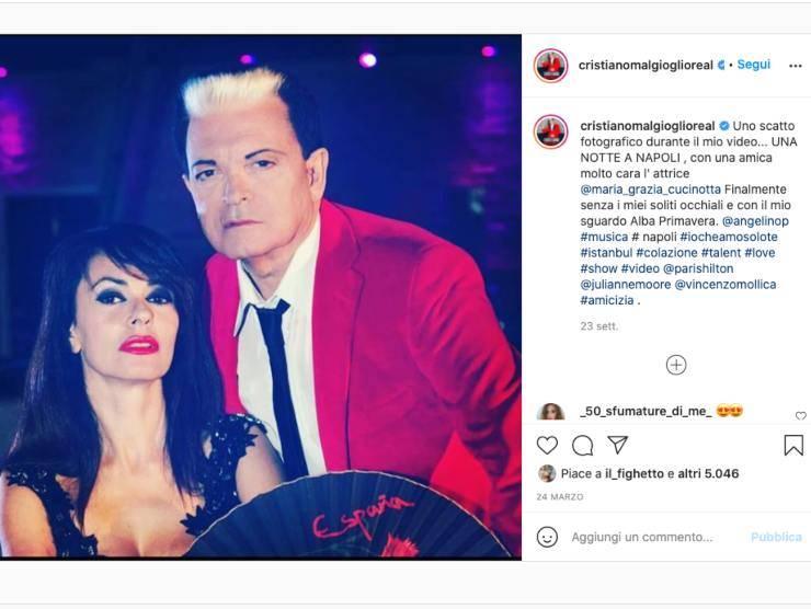 Schermata profilo Instagram di Cristiano Malgioglio (Instagram)
