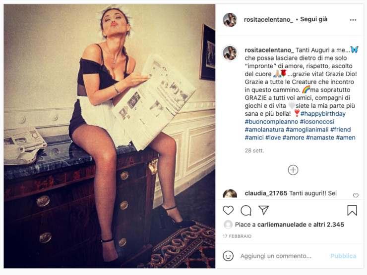 Schermata profilo Instagram di Rosita Celentano (Instagram)