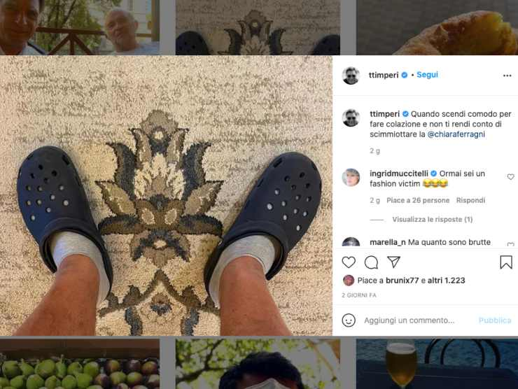 Schermata profilo Instagram di Tiberio Timperi (Instagram)