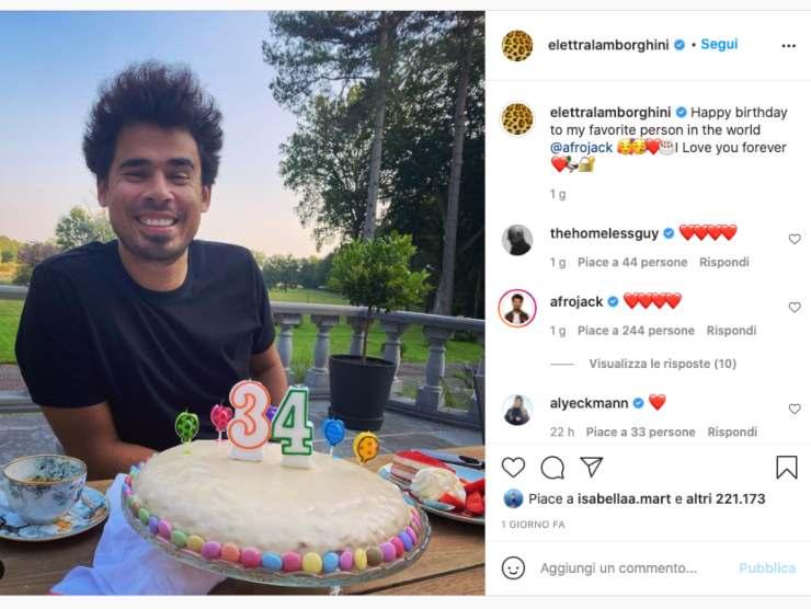 Schermata profilo Instagram di Elettra Lamborghini (Instagram)