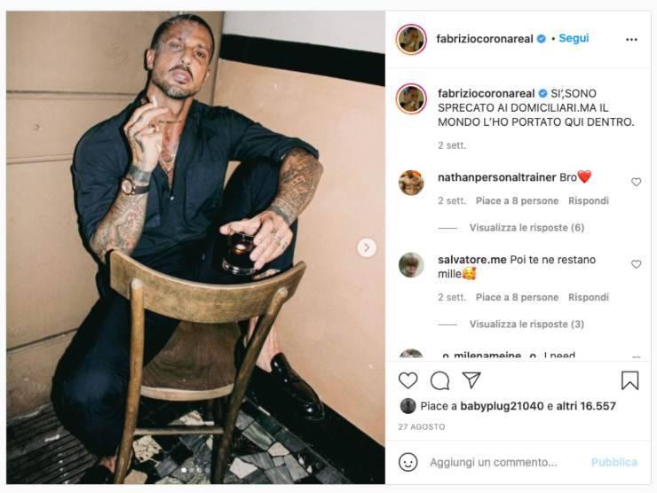 Schermata profilo Instagram di Fabrizio Corona (Instagram)