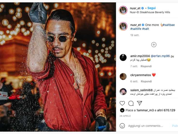 Schermata profilo Instagram di Salt Bae (Instagram)