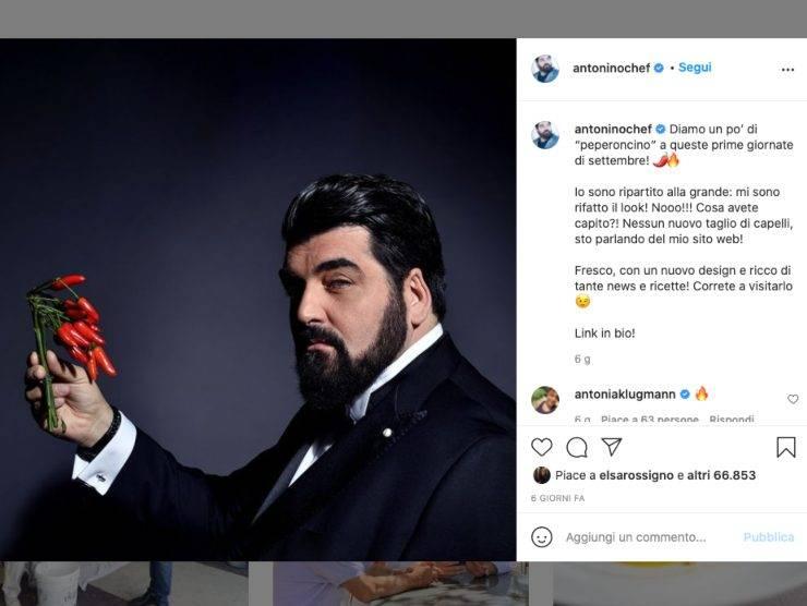 Schermata profilo Instagram di Antonino Cannavacciuolo (Instagram)