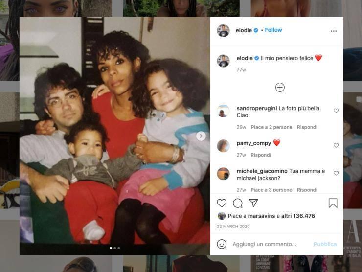 Schermata profilo Instagram di Elodie Di Patrizi (Instagram)