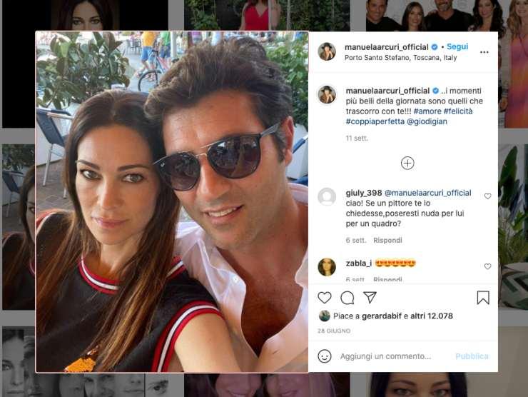 Schermata profilo Instagram di Manuela Arcuri (Instagram)