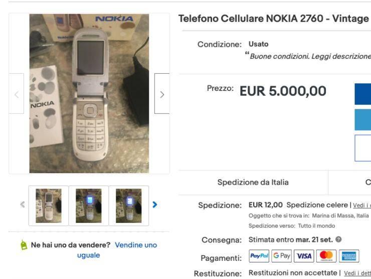 Schermata pagina di vendita di Ebay (Ebay)